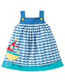 50% OFF! Frugi Mylor Border Dress: Boat