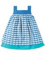 50% OFF! Frugi Mylor Border Dress: Boat  0-3 3-6 18-24