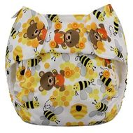 NEW! Blueberry Onesize Organic Simplex: Bears and The Bees