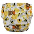 NEW! Blueberry Side Snap Simplex Cotton Birdseye: Bears and The Bees