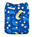 Alva Baby Onesize Nappy: Moon and Stars
