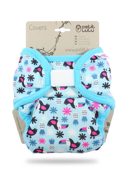 New Petit Lulu Maxi Xl Nappy Wrap Toucans