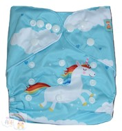 NEW! Alva Baby Onesize Nappy: Rainbow Unicorn