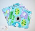 5-Pack Large Washable Wipes: Elephants