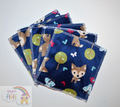 5-Pack Large Washable Wipes: Midnight Deer
