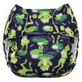 NEW! Blueberry Onesize Organic Simplex: Froggies
