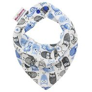 NEW! Blueberry Bandana Bib: Blue Owls