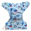 NEW! Alva Onesize Nappy Wrap: Sailboats
