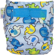 NEW! Ecopipo Onesize Pocket Nappy V2: Blue Elephants