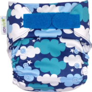 NEW! Ecopipo Onesize Pocket Nappy V2: Clouds