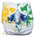 NEW! Alva Baby Onesize Nappy: Carnival Elephant
