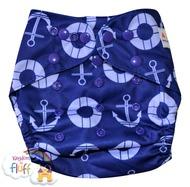 Alva Baby Onesize Nappy Wrap: Anchors