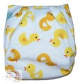 NEW! Alva Baby Onesize Nappy: Fluffy Ducks (Plush)