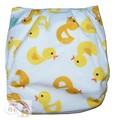 NEW! Alva Baby Onesize Nappy: Fluffy Ducks (Plush)