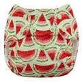 NEW! Blueberry Side Snap Simplex Cotton Birdseye: Watermelon