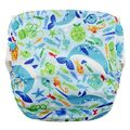 NEW! Blueberry Side Snap Simplex Cotton Birdseye: Narwhals