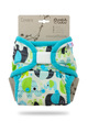 Petit Lulu Maxi XL Nappy Wrap: Blue Elephants