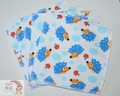 5-Pack Large Washable Wipes: Hedgehogs Towelling