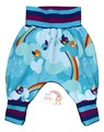3-6m Harem Pants: Rainbow Birds