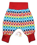 3-6m Harem Pants: Rainbow Stars