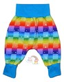 6-9m Harem Pants Rainbow Checked Stars
