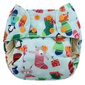 NEW! Blueberry Capri Nappy Wrap: Socks