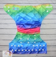 NEW! Alva Baby Onesize Nappy: Rainbow Scales