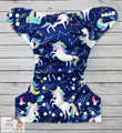 NEW! Alva Baby Onesize Nappy: Celestial Unicorns