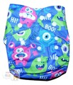 Alva Baby Onesize Nappy: Monsters