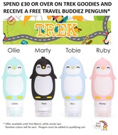 FREE! Kangacare Travel Buddiez when you buy Trek *Minimum spend applies