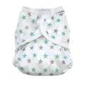 NEW! Muslinz Nappy Wrap: Mint Grey Star: Size 2