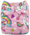 NEW! Alva Baby Onesize Nappy: Pink Unicorns