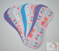 Pack of 9 Fleece Nappy Liners - Owls and Hearts