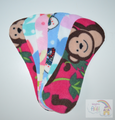 Pack of 6 Fleece Nappy Liners - Monkeys and Hearts