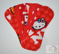 Pack of 8 Fleece Nappy Liners - Reds Mix
