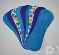 Pack of 9 Fleece Nappy Liners - Blues and Stars