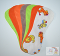 Pack of 7 Fleece Nappy Liners - Safari Mix