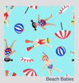 NEW! Bambooty Basics All-in-two with bamboo insert: Beach Babes