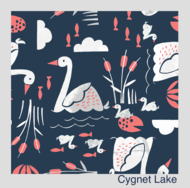 NEW! Bambooty Basics All-in-two with bamboo insert: Cygnet Lake