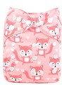 NEW! Alva Baby Onesize Nappy: Foxes on Pink