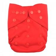 Alva Baby Onesize Nappy Wrap: Red