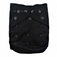 Alva Baby Onesize Nappy Wrap: Black