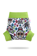 Petit Lulu Pull-up Wrap: Mexican Skulls on White