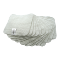 Muslinz Bamboo Cotton Terry Wipes: White