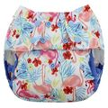 NEW! Blueberry Capri Nappy Wrap: Flamingos