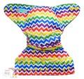 Alva Onesize Nappy Wrap: Rainbow Chevron