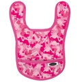 Imagine Baby Bib: Pink Camosaur