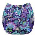 Blueberry Capri Onesize Nappy Wrap: Butterfly Garden
