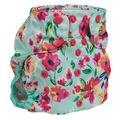 NEW! Too Smart 2.0 Onesize Nappy Wrap: Aqua Floral
