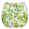 Blueberry Capri Nappy Wrap: Size 1: Avocado
